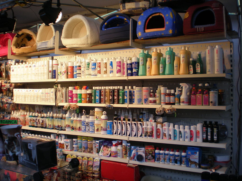 Grooming equipment, shampoos etc