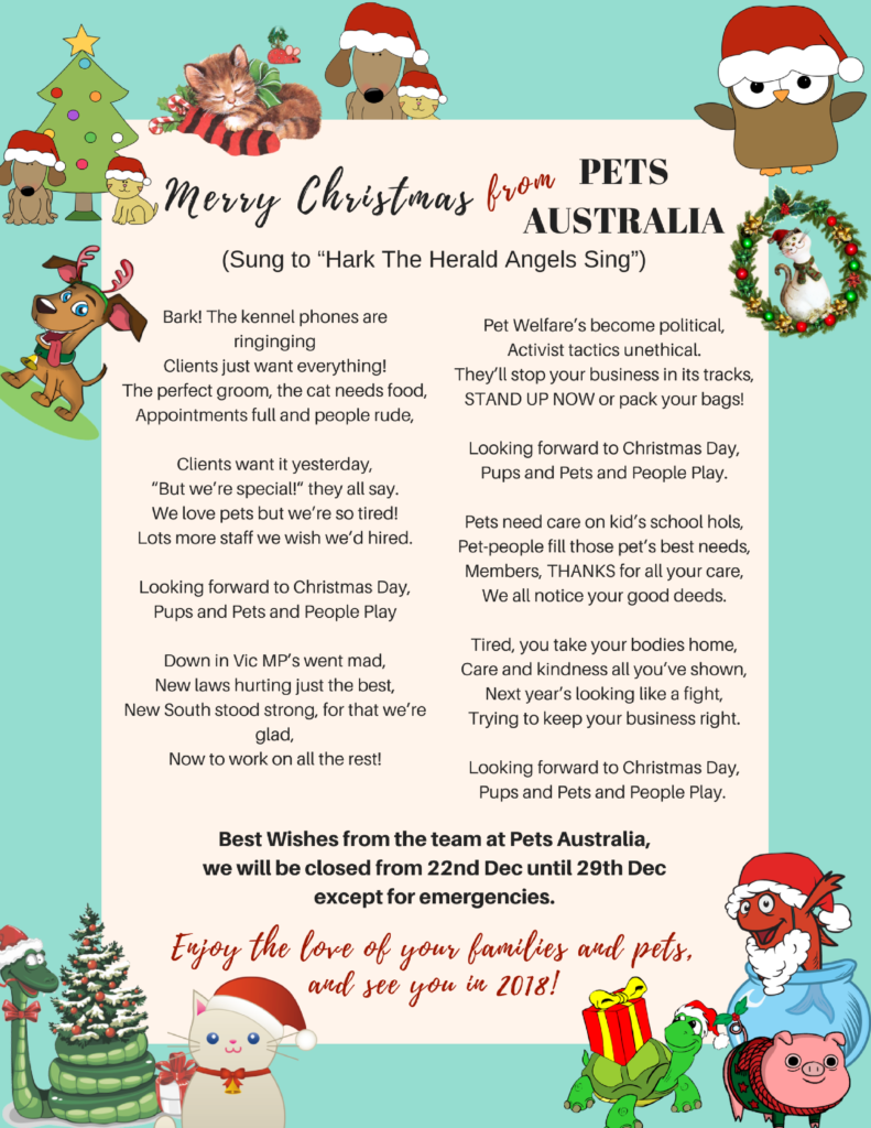 Merry christmas from pets australia pets australia tags australia caroling christmas carol parody happy holidays happy new year merry christmas pet industry petsaustralia kristyandbryce Gallery