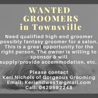 Wanted Groomer in Townsville
